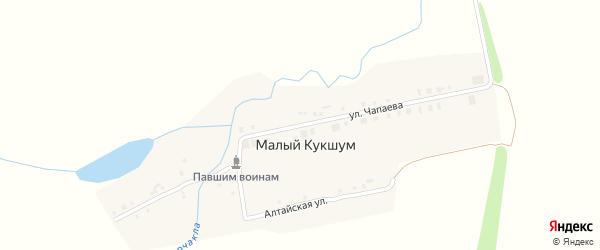Улица Чапаева на карте деревни Малого Кукшума с номерами домов