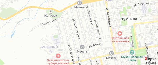 Улица Эмирова на карте Буйнакска с номерами домов