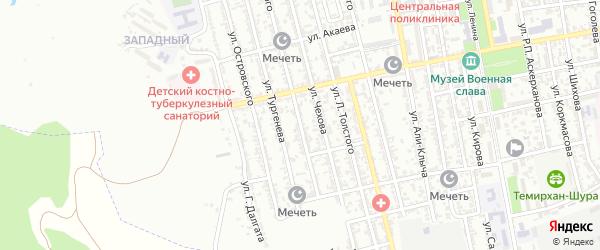 Улица Достоевского на карте Буйнакска с номерами домов
