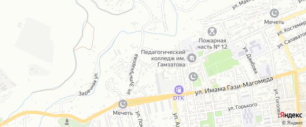 Пивзаводская улица на карте Буйнакска с номерами домов