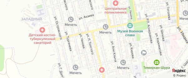 Улица Ломоносова на карте Кизилюрта с номерами домов