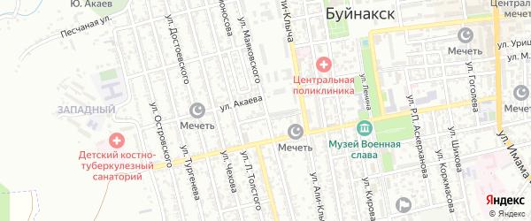 Улица Маяковского на карте Буйнакска с номерами домов