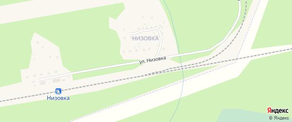 Улица Низовка на карте Коряжмы с номерами домов