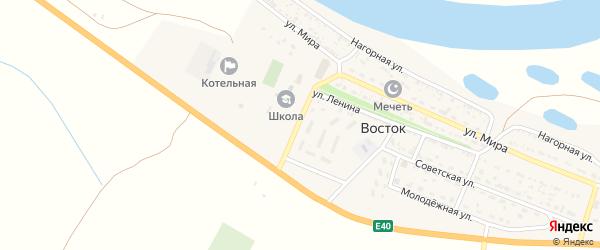 Октябрьская улица на карте села Востока с номерами домов