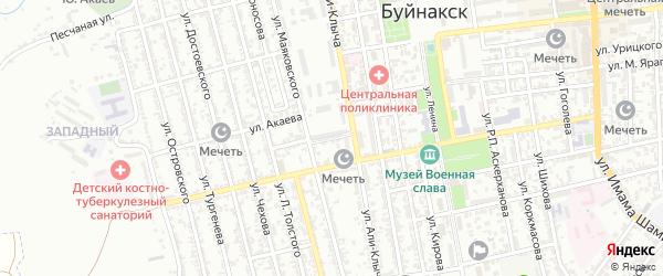 Улица Магомеда Арбулиева на карте Буйнакска с номерами домов