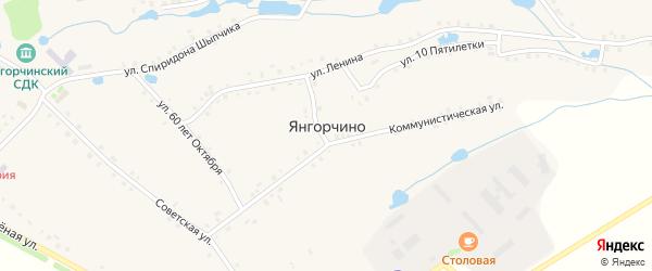 Тракторный переулок на карте села Янгорчино с номерами домов