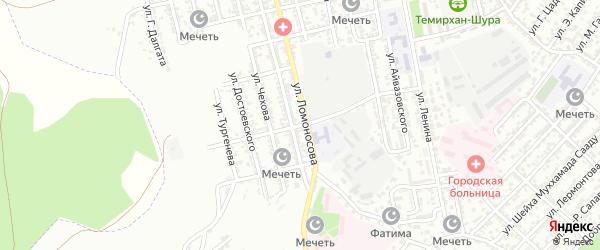 Улица Циолковского на карте Буйнакска с номерами домов