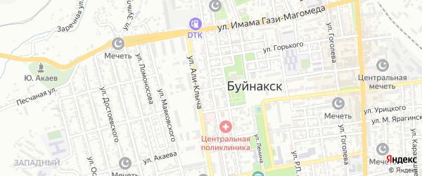 И.Яниной переулок на карте Буйнакска с номерами домов
