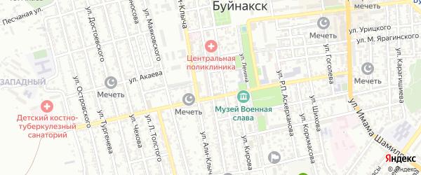 Улица Дахадаева на карте Буйнакска с номерами домов
