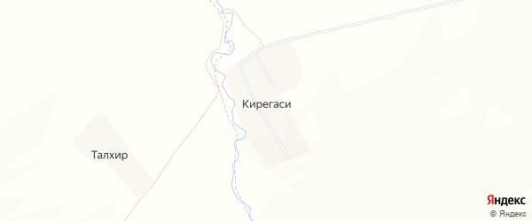 Карта деревни Кирегаси в Чувашии с улицами и номерами домов