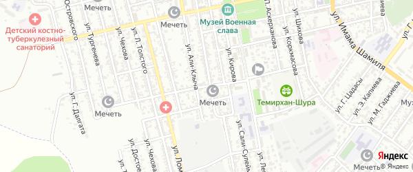 Улица Чайковского на карте Буйнакска с номерами домов