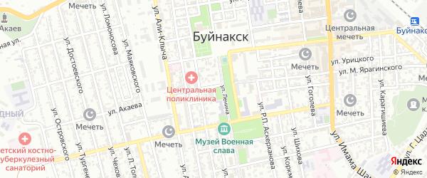 Улица Кирова на карте Буйнакска с номерами домов