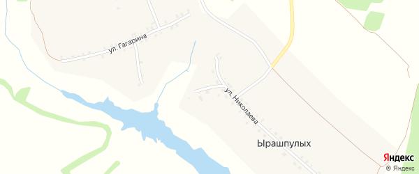 Улица Односторонка на карте деревни Ырашпулых с номерами домов