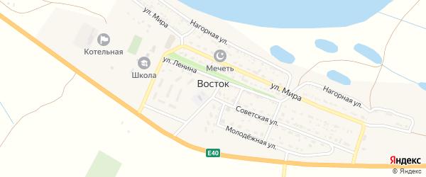 Восточный переулок на карте села Востока с номерами домов