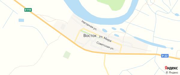 Карта села Востока в Астраханской области с улицами и номерами домов