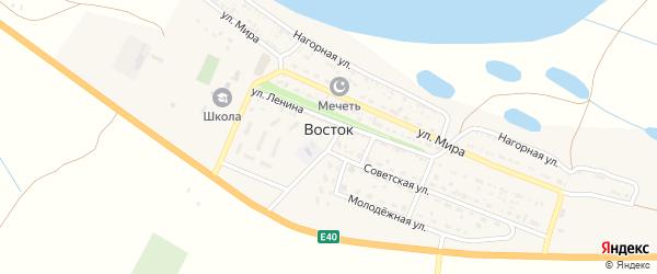 Октябрьский переулок на карте села Востока с номерами домов
