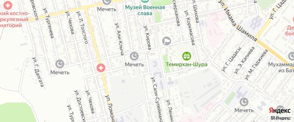 Улица Мусоргского на карте Буйнакска с номерами домов