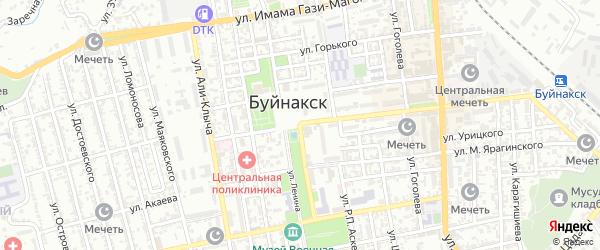 Микрорайон Жилгородок ПМК на карте Буйнакска с номерами домов