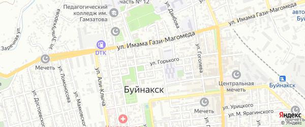 Улица Тахо-Годи на карте Буйнакска с номерами домов