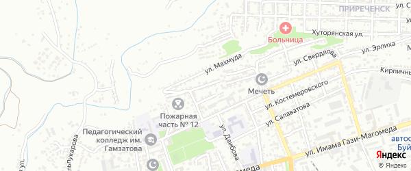 Улица З.Магомедова на карте Буйнакска с номерами домов