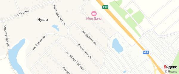 Запрудная улица на карте Чебоксар с номерами домов