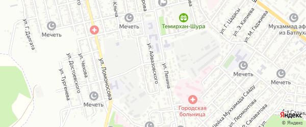 Улица Айвазовского на карте Буйнакска с номерами домов
