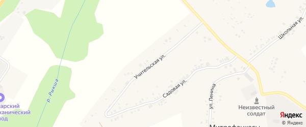 Учительская улица на карте деревни Митрофанкасы с номерами домов