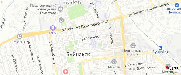Улица Горького на карте Буйнакска с номерами домов