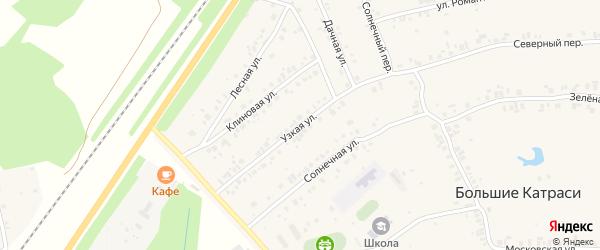Узкая улица на карте деревни Большие Катраси с номерами домов