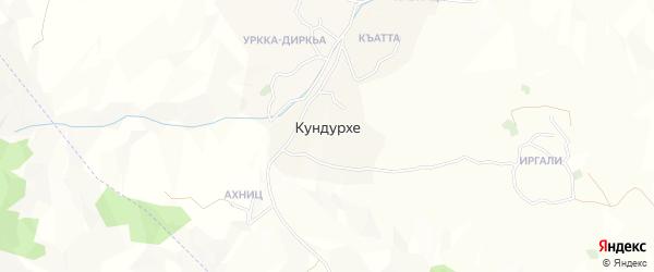 Карта села Кундурхе в Дагестане с улицами и номерами домов