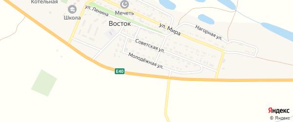 Молодежная улица на карте села Востока с номерами домов