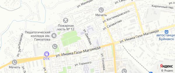 Улица Даибова на карте Буйнакска с номерами домов