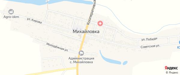 Виноградный переулок на карте села Михайловки с номерами домов