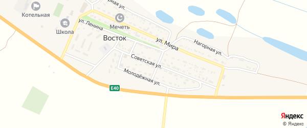 Советская улица на карте села Востока с номерами домов