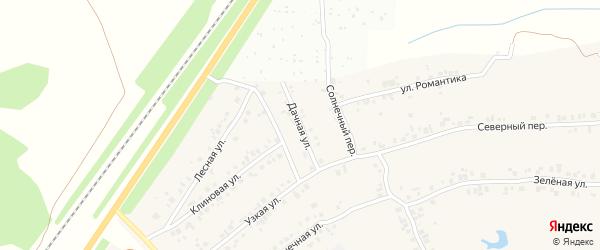 Дачная улица на карте деревни Большие Катраси с номерами домов