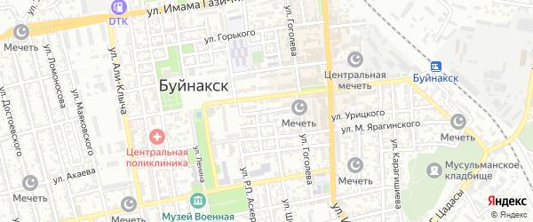 Пионерская улица на карте Буйнакска с номерами домов