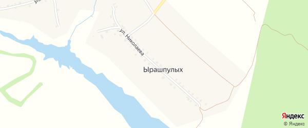 Улица Николаева на карте деревни Ырашпулых с номерами домов