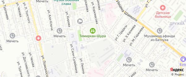 Ленинградская улица на карте Буйнакска с номерами домов