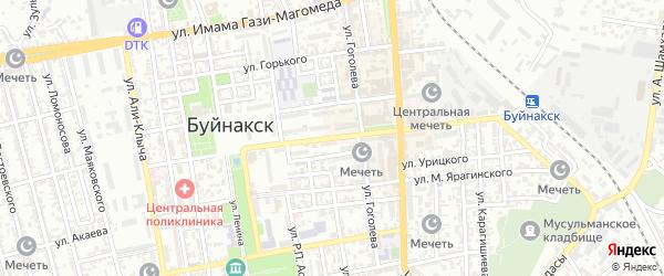 Улица Чкалова на карте Буйнакска с номерами домов