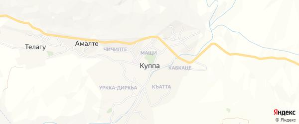 Карта села Куппы в Дагестане с улицами и номерами домов