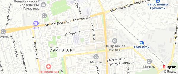 Улица Тимирязева на карте Буйнакска с номерами домов