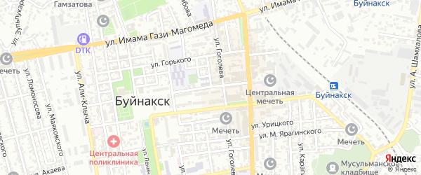 Улица Орджоникидзе на карте Буйнакска с номерами домов