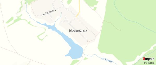 Карта деревни Ырашпулых в Чувашии с улицами и номерами домов