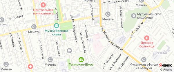 Улица Шихова на карте Буйнакска с номерами домов