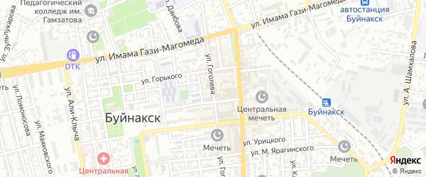 Улица Гоголева на карте Буйнакска с номерами домов