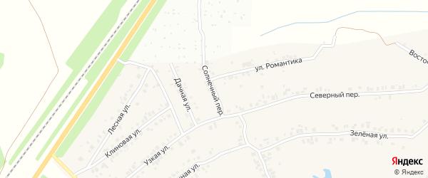 Солнечный переулок на карте деревни Большие Катраси с номерами домов