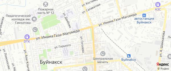 Батырая улица на карте Буйнакска с номерами домов