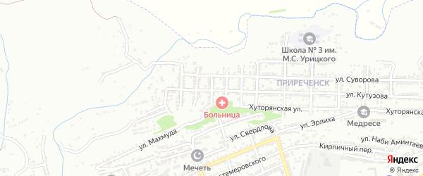 Улица Багратиона на карте Буйнакска с номерами домов