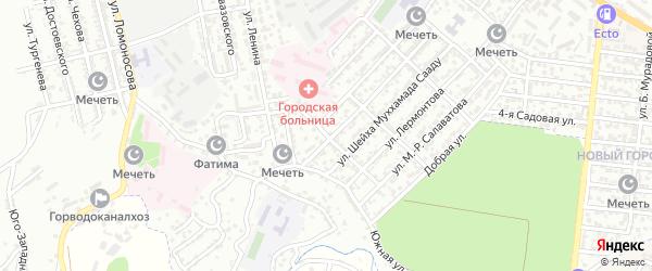 Улица А.Джамалутдинова на карте Буйнакска с номерами домов