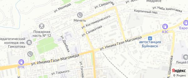 Улица Габиева на карте Буйнакска с номерами домов